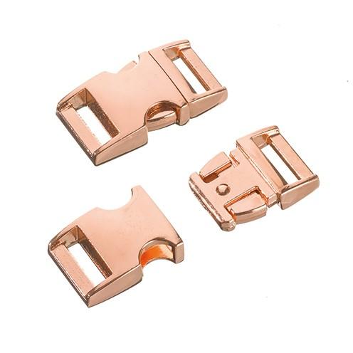 Klickschnalle Metall 16 / 20 mm kupfer
