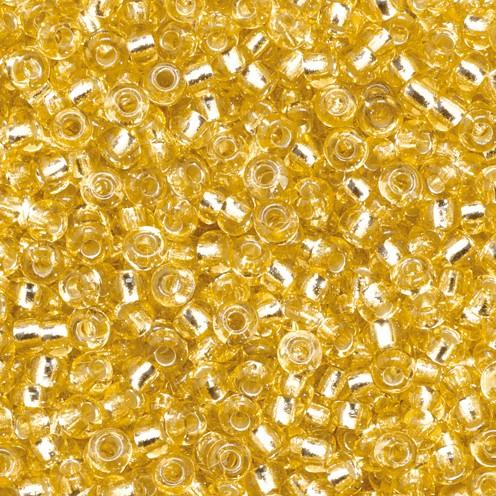 Indianerperlen Silbereinzug ø 2,2 mm 500 g gold