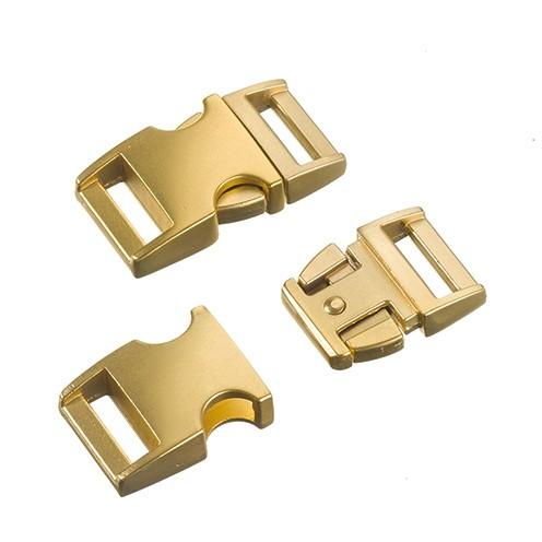 Klickschnalle Metall 16 / 20 mm gold