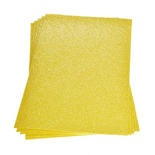 Moosgummiplatte Glitter 200 x 300 x 2 mm gelb