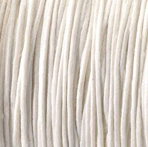Baumwollkordel gewachst ~ 0,5 mm weiß