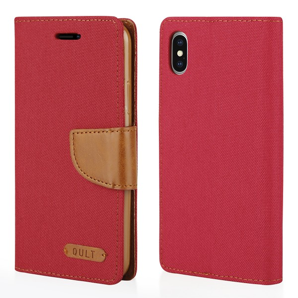 "CASE """"FANCY"""" CANVAS iPhone X red"