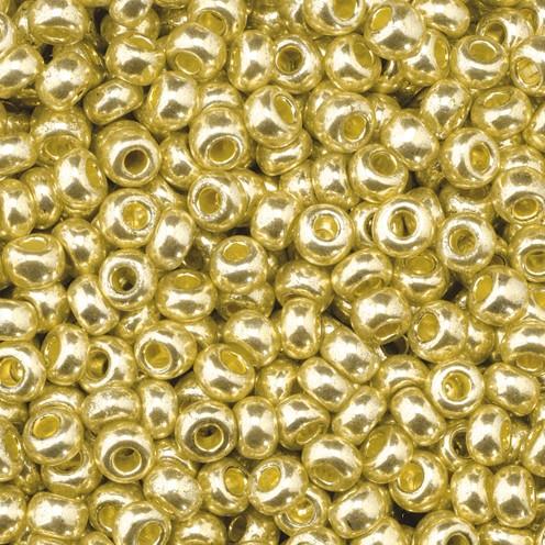 Indianerperlen metallic ø 2,6 mm 500 g gold