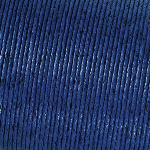 Baumwollkordel gewachst ø 2,0 mm blau