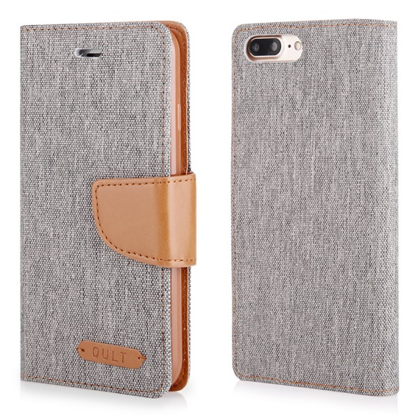 """CASE """"""""FANCY"""""""" CANVAS iPhone 7/8 Plus gray"""