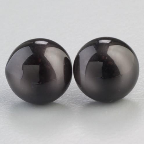Tieraugen mit Öse, Glas ø 6 mm 4 Stk. schwarz