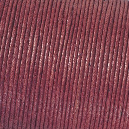 Baumwollkordel gewachst ø 1 mm bordeaux