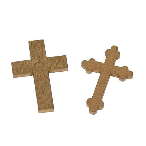 Streuer Holz Kreuze sortiert 36 x 24 / 35 x 23 mm 24 Stk. gold