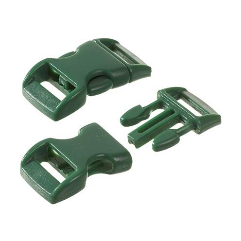 Klickschnalle 11 / 14 mm 10 Stk. dunkelgrün