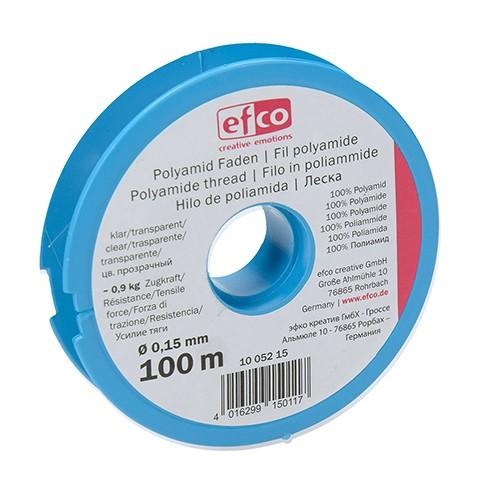 Polyamid Faden Zugkraft ~ 0,9 kg ø 0,15 mm 100 m klar