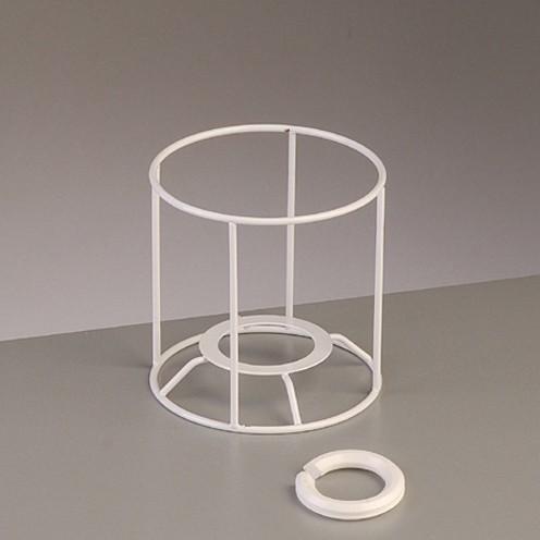 Lampenschirm-Gestell Rund - für E14 + E27 10 cm / ø 10 cm weiß