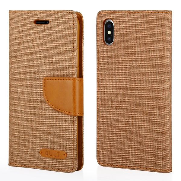 "CASE """"FANCY"""" CANVAS iPhone X brown"