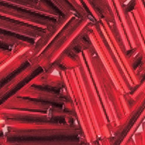 Stiftperlen Silbereinzug ø 2 x 11 mm 13 g rot