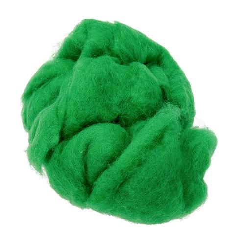 Wolle zum Filzen reine Schurwolle 30 g grasgrün