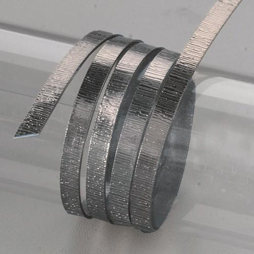 Aludraht eloxiert Struktur flach 1 x 5 mm 2 m dunkelgrau