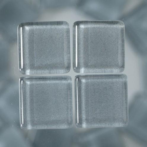 MosaixSoft-Glassteine 15 x 15 x 4 mm 200 g ~ 91 Stk. grau