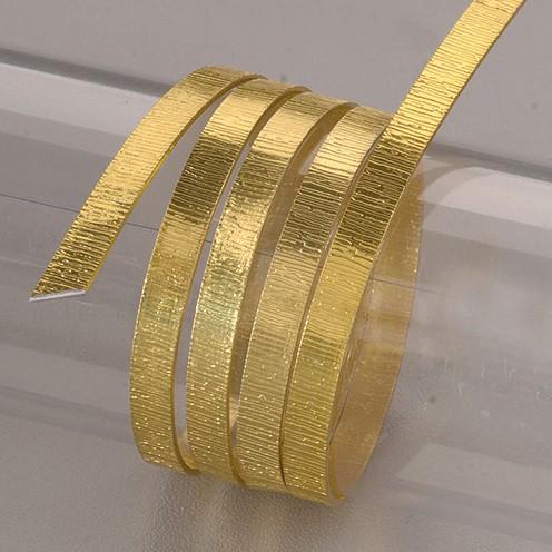 Aludraht eloxiert Struktur flach 1 x 5 mm 2 m gelb