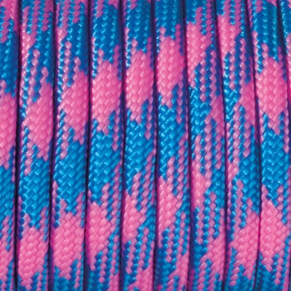 Paracord Farbmix 4 mm x 50 m pink azurblau