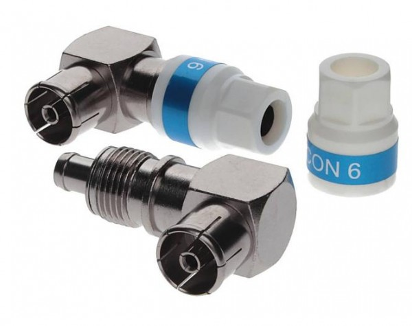 Cabelcon 90-IECF-56 5.1 SELF INSTALL Klasse A - 90° IEC Buchse Kupplung Winkelbuchse