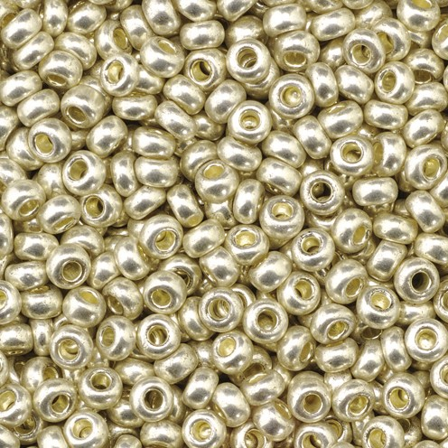 Indianerperlen metallic ø 2,6 mm 500 g silber