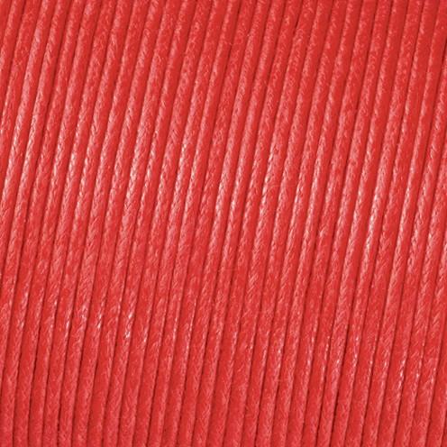 Baumwollkordel gewachst ø 2,0 mm rot