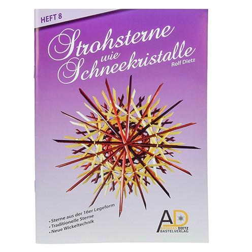 Buch deutsch Strohsterne Schneekristalle A 5 Heft 8 / 32S. für 16er Form