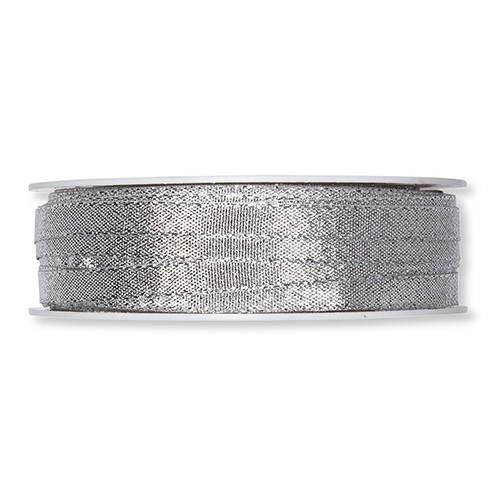 Lurexband waschbar 30° 6 mm 50 m silber