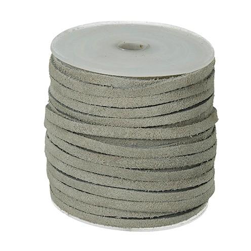 Wildlederband 3 mm 22,8 m weiß