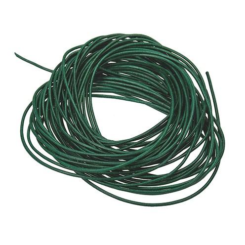 Ziegenlederriemen ø 1,5 mm 1 m grün