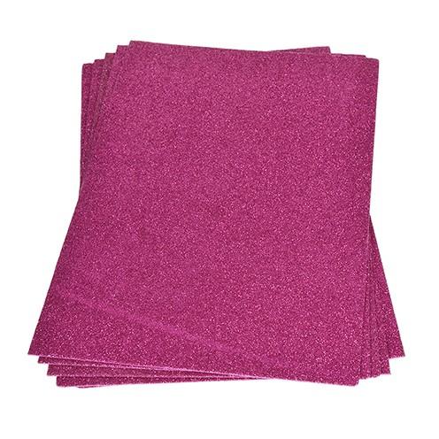 Moosgummiplatte Glitter 200 x 300 x 2 mm pink