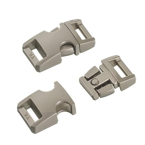 Klickschnalle Metall 16 / 20 mm silber gebürstet