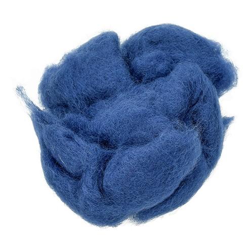 Wolle zum Filzen reine Schurwolle 30 g dunkelblau