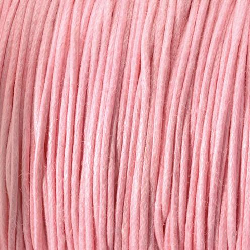 Baumwollkordel gewachst ~ 0,5 mm rosa