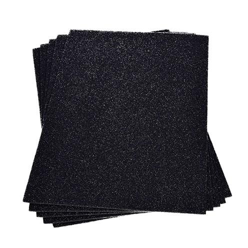 Moosgummiplatte Glitter 200 x 300 x 2 mm schwarz