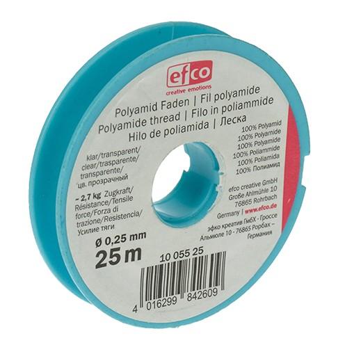 Polyamid Faden Zugkraft ~ 2,7 kg ø 0,25 mm 25 m klar
