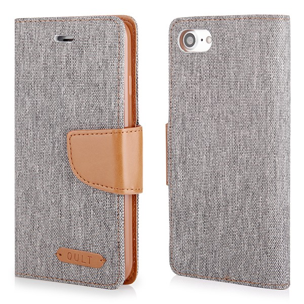 "CASE """"FANCY"""" CANVAS iPhone 7/8 gray"