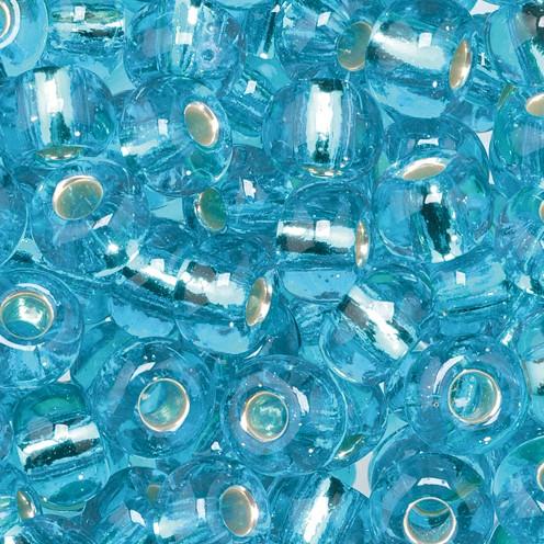 Indianerperlen Silbereinzug ø 5,5 mm 500 g hellblau