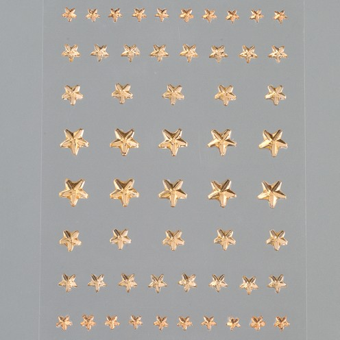 Strass Acryl selbstklebend Stern 4 5 6 8 mm 56 Stk. helltopaz