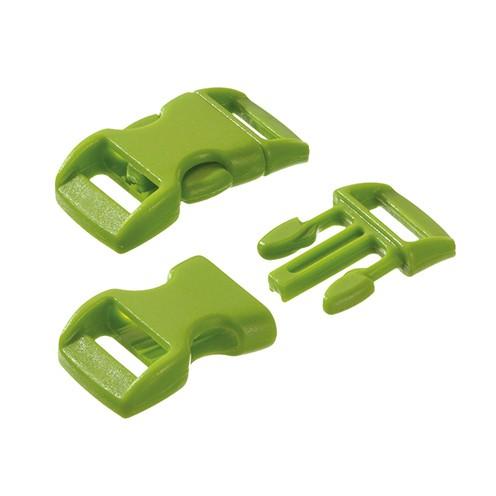 Klickschnalle 11 / 14 mm hellgrün