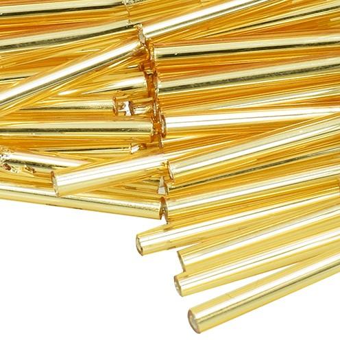 Stiftperlen Silbereinzug ø 2 x 20 mm 10 g gold