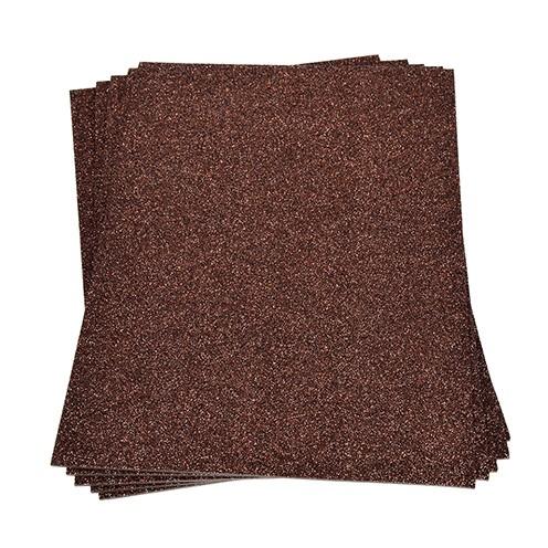 Moosgummiplatte Glitter 200 x 300 x 2 mm dunkelbraun
