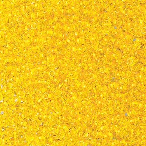 Indianerperlen transparent ø 3,5 mm 500 g gelb
