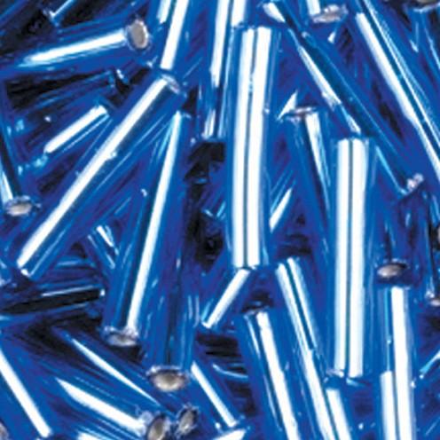Stiftperlen Silbereinzug ø 2 x 11 mm 500 g hellblau