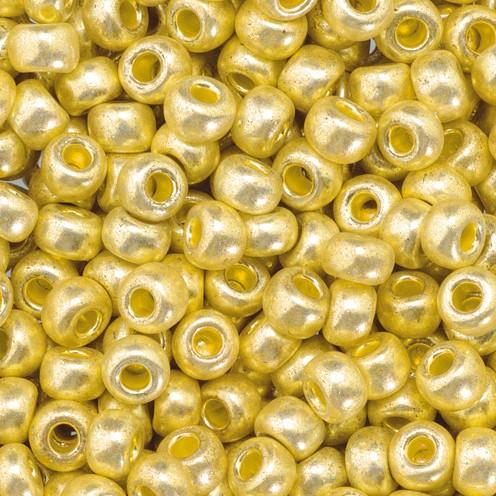 Indianerperlen metallic ø 3,5 mm 500 g altgold