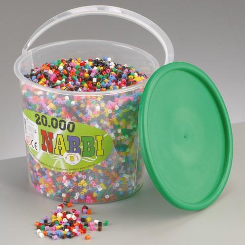 Nabbi® - Bügelperlen im Henkeleimer ~Ø 5 x H 5 mm 20.000 Stk. Standard Mix