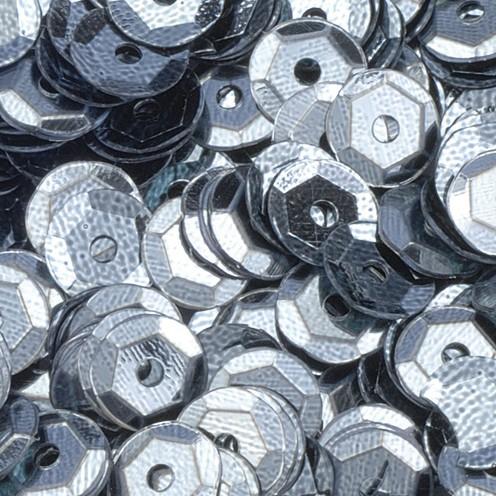Pailletten, rund, gewölbt ø 6 mm 40 g / ~ 4.000 Stk. dunkelgrau