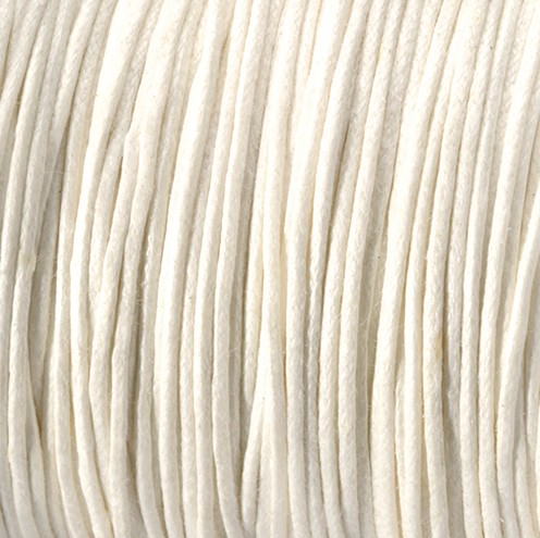 Baumwollkordel gewachst ~ 0,5 mm creme