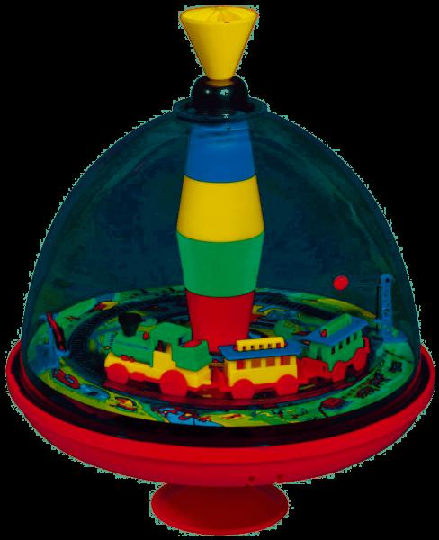 Bolz - Blechspielzeug - Panoramakreisel Eisenbahn mit Chip