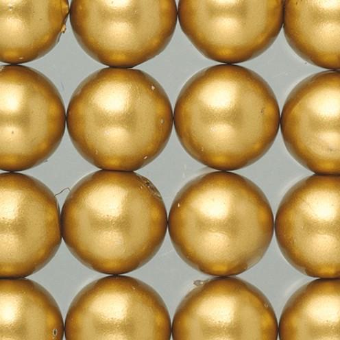 Wachsperlen ø 6 mm 60 Stk. gold matt