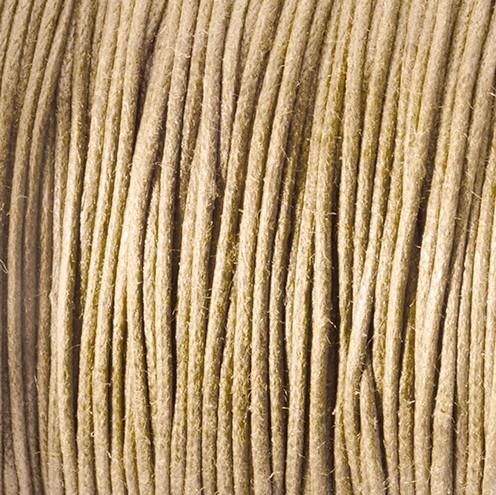Baumwollkordel gewachst ~ 0,5 mm natur